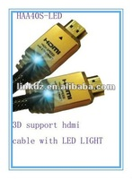LED HDMI Cable High Speed with ethernet 3D 1080P