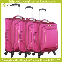 2015 Desiner High End Business style Fabric trolley Luggage suitcase with 4 spinner wheels