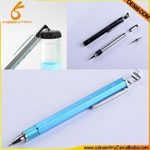 the newest DIY 8 in 1 tool pen with bottle opener+ruler+stand+ball pen+screw driver+car brand logo