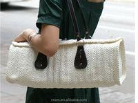 2015 new style straw bag soft feel beach bag fashionable internationl sense straw bag