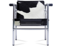 Le Corbusier LC1 Basculant sling chair / modern Leisure Cowhide Leather Chair / pony leather stainless frame arm chair