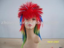 colorful synthetic Halloween party wigs