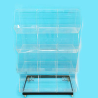 high quality clear acrylic display shelves for retail stores,15 compartments retail display
