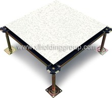 anti-static PVC steel raised access floor, galvanized cremic, HPL