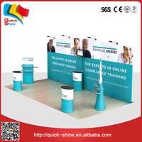 stall design Trade Show pop up fan manufacturer