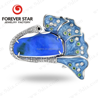 2015 Designer Jewelry 14K White Gold Blue Fire Opal Jewelry