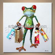 Modern Handmade Oil Animal Image for home decor