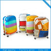 2014 fiber trolley bag carry on luggage/caddy trolley school case
