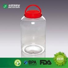 handle lid pet plastic empty clear large pickle jars