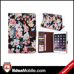 2015 new products pu leather flip case for ipad mini 3 case with card slot, for ipad mini holster