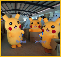 2015 new design plush cartoon adult pikachu mascot costumes for sale