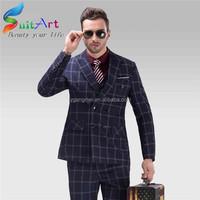 2015 new design leisure suits 100% cotton slim fit suit for men