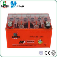 Sealed 12Volt Dry Cell Battery, Rechargeable Battery Gel For Wuyang 125 Motorcycle