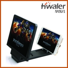 smartphone enlarge stand , mobile phone screen magnifier, 3D movie amplifier
