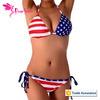 wholesale old fashion American Flag sexy swimwear