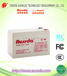 Shengjie AUSSDA Wholesale valve-regulated lead acid battery 12V 7AH