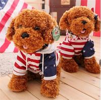 OEM plush toy animal lifelike die cut pet teddy dog kids playing toys stuffed plush animal