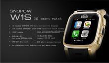SNOPOW W1S 3G transflective screen IP68 waterproof android 4.4 dual core 1G RAM 8G ROM water proof dual sim card watch phone