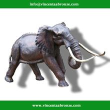 Old Style bronze restaurant door put elephant statue
