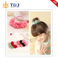 >>>>2015 High Quality Lovely Baby Fabric Flower Headbands For Girl /