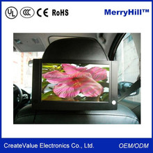 Video Player Mini 7/ 10/ 12 Inch Car Back Seat LCD Monitor With 12V DC Input