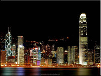 Wholesale led canvas wall art, famous city view painting lighted up ,stretched and framed art work for home decorative