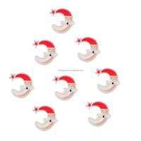 moon shape santa claus alloy Christmas floating charms pendant