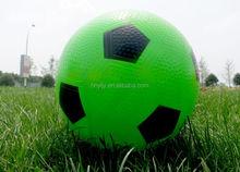 Bulk Green & Black Plastic Type PVC Soccer Balls For Promotion