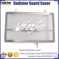 BJ-RG-KA001 Brand new Radiator Stainless Steel Guard Cover For Kawasaki NINJA EX 250 300
