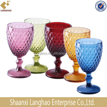 HANDMADE PRESS DIFFERENT COLOR DRINKING GLASSWARE,GLASS DRINKWARE, HIGH QUALITY DRINKING GLASS
