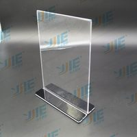 New style new arrival acrylic menu holders with triangle base