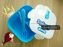 Hight quality plastic PP lunch box cutlery set