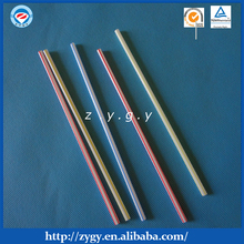 New Design Transparent Colorful Straight Drinking Straws Price