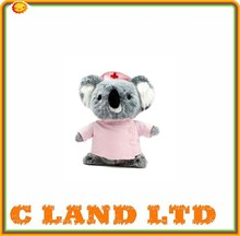 lovely pink nurse outfit koala plush toy