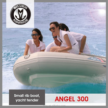 Small Inflatable Dinghy With Fiberglass Hull Sports For Yachts Silver Marine Angel 300