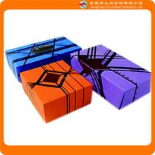 line art purple, orange, blue gift paper packaging box