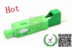 Green Color China Plastic Hybrid LC/SC Fiber Optic Adapter
