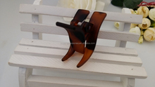 Wholesale acrylic mini french tortoise shell hair claw clip for women