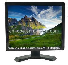 15 pulgadas vga/hdmi/bnc/usb cctv monitor lcd