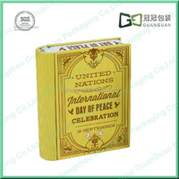 book shaped gift tin boxes
