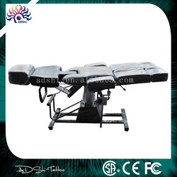 Salon SPA Black Massage Bed Tattoo & Stool Facial Hydraulic Chair Table Beauty