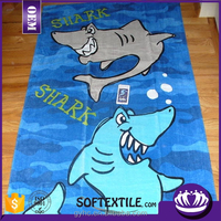 100% cotton customized logo printed towel