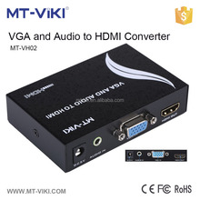 MT-VIKI video audio converter adapter for vga to hdmi with 3.5mm audio output support 1080p HDCP compatible MT-VH02
