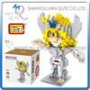 Mini Qute LOZ Anime boys cartoon model Saint Seiya Hyoga Super hero plastic building block educational toy NO.9482