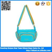Online shopping girls nylon long strap shoulder bags for school