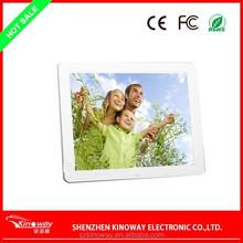Sex video playback digital picture frame 12 inch HD 1080P LCD bulk digital photo frame customize
