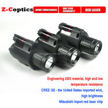 650nm Tactical Red Laser Sight And LED For Picatinny Rail With Quick Release Mounting