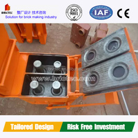 Raw material clay and cement manual hand press brick making machine