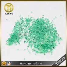 Hot sale 113# emerald green round brilliant cut 2mm synthetic nano gemstone