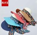 2014 atacado nova moda chapéus de palha para decorar